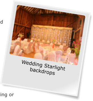Wedding Starlight backdrops