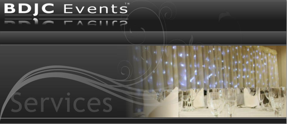 Wedding starlight backdrops hire for Weddings services from BDJC Events